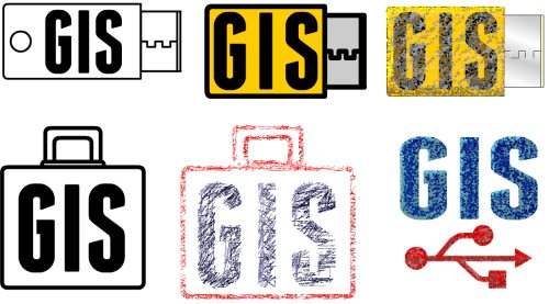 Design options for the new Portable GIS logo