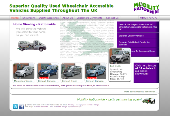 Screenshot of the new Mobility Nationwide website home page.