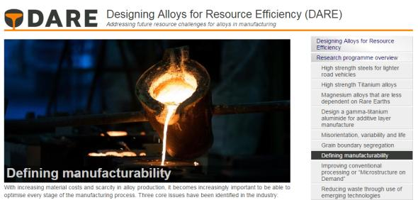 DARE optimise the alloy manufacturing process.