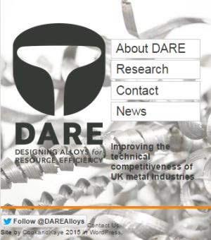 DARE alloys research splash screen.